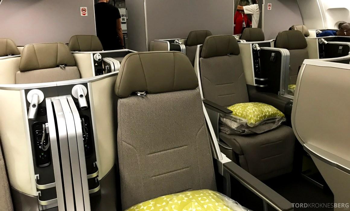 TAP Portugal Business Class New York Lisbon kabin