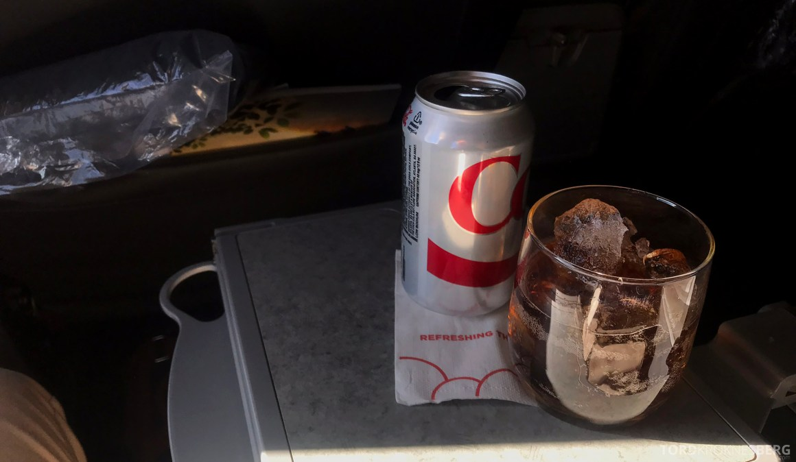 American Airlines First Class Chicago Minneapolis drikke
