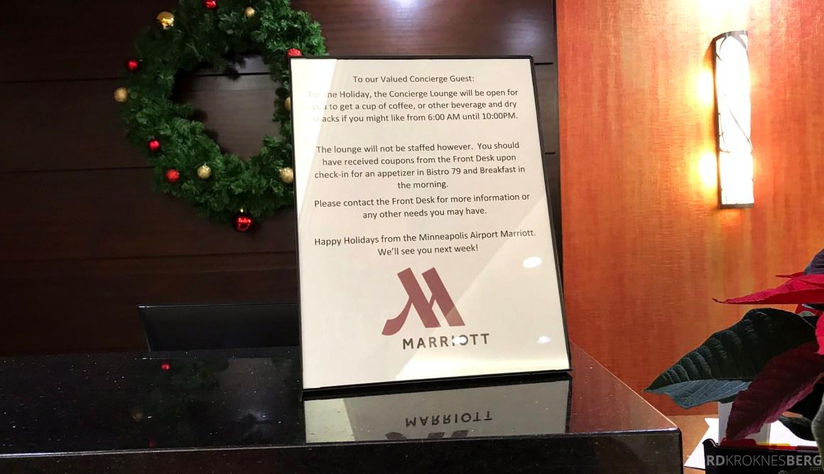 Marriott Bloomington Hotel lounge informasjon