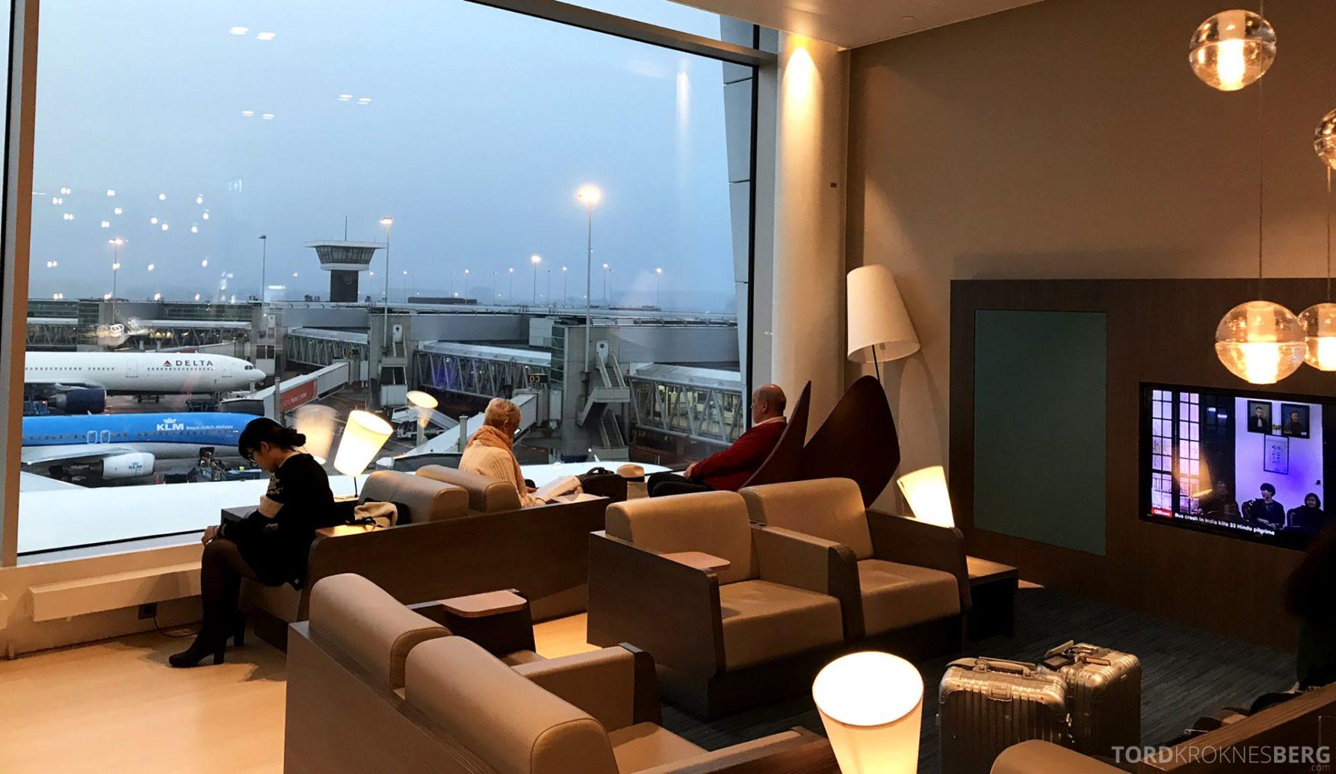 Aspire Lounge Schiphol Singapore sitteplasser