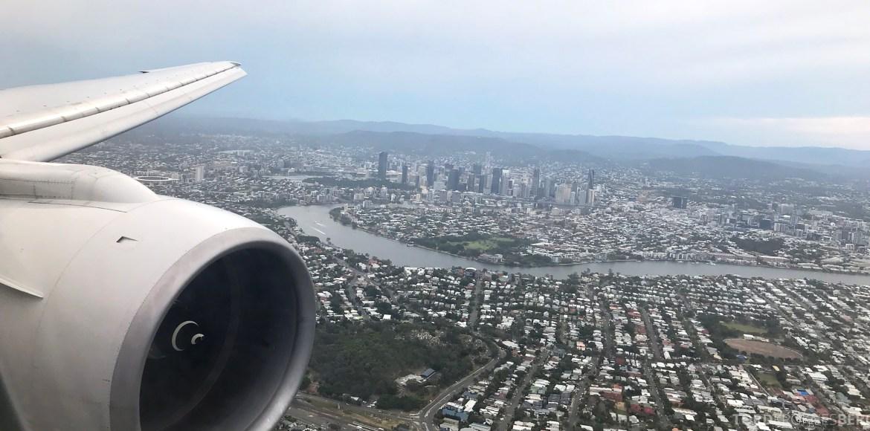 Singapore Airlines Business Class Brisbane landing