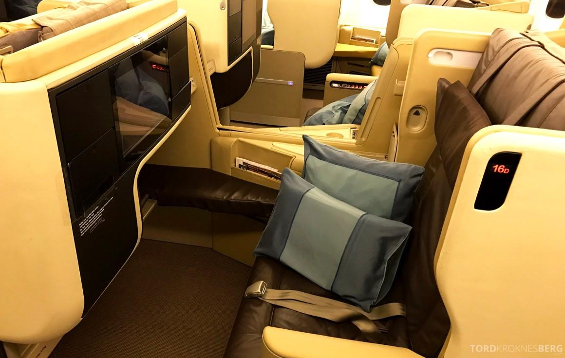 Singapore Airlines Business Class Brisbane sete