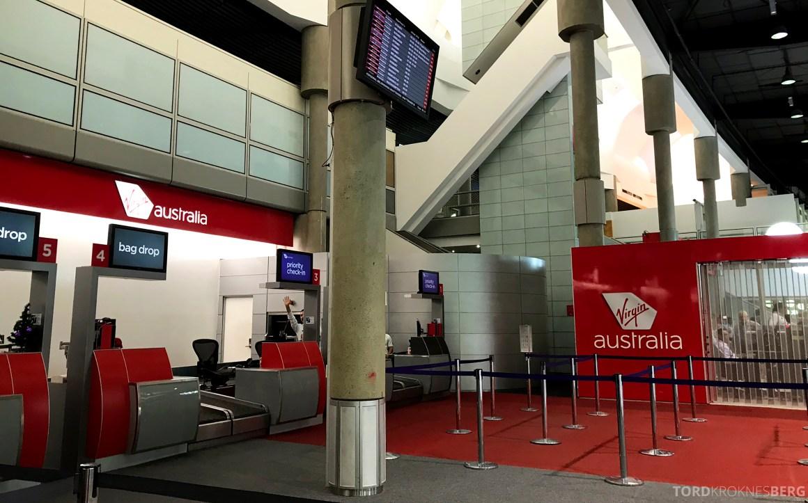 Virgin Australia Economy Class Brisbane Sydney innsjekk
