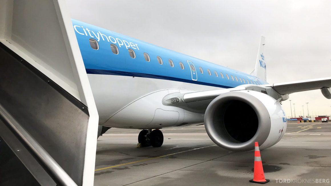 KLM Business Class Amsterdam Trondheim fly