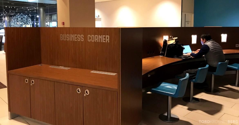 KLM Crown Lounge Schiphol Amsterdam business corner
