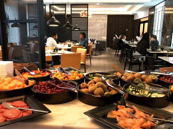 Marriott Copenhagen Hotel Executive Lounge utsikt frokostbuffet