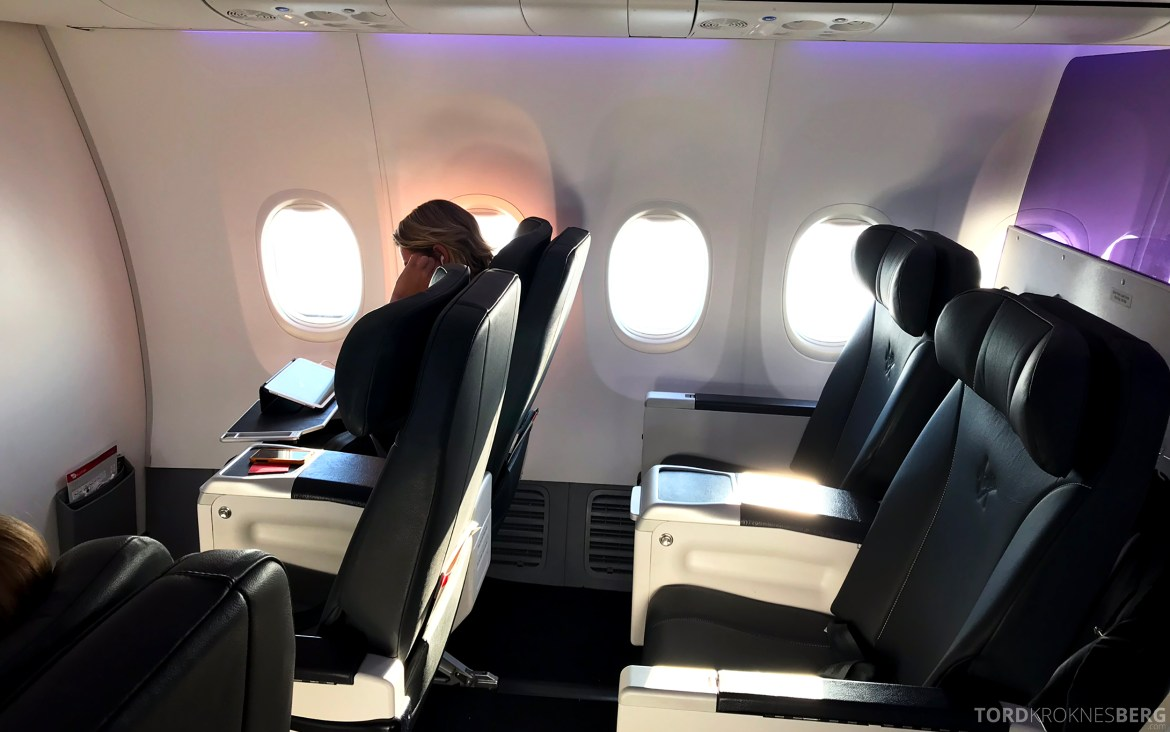 Virgin Australia Business Class Sydney Brisbane kabin