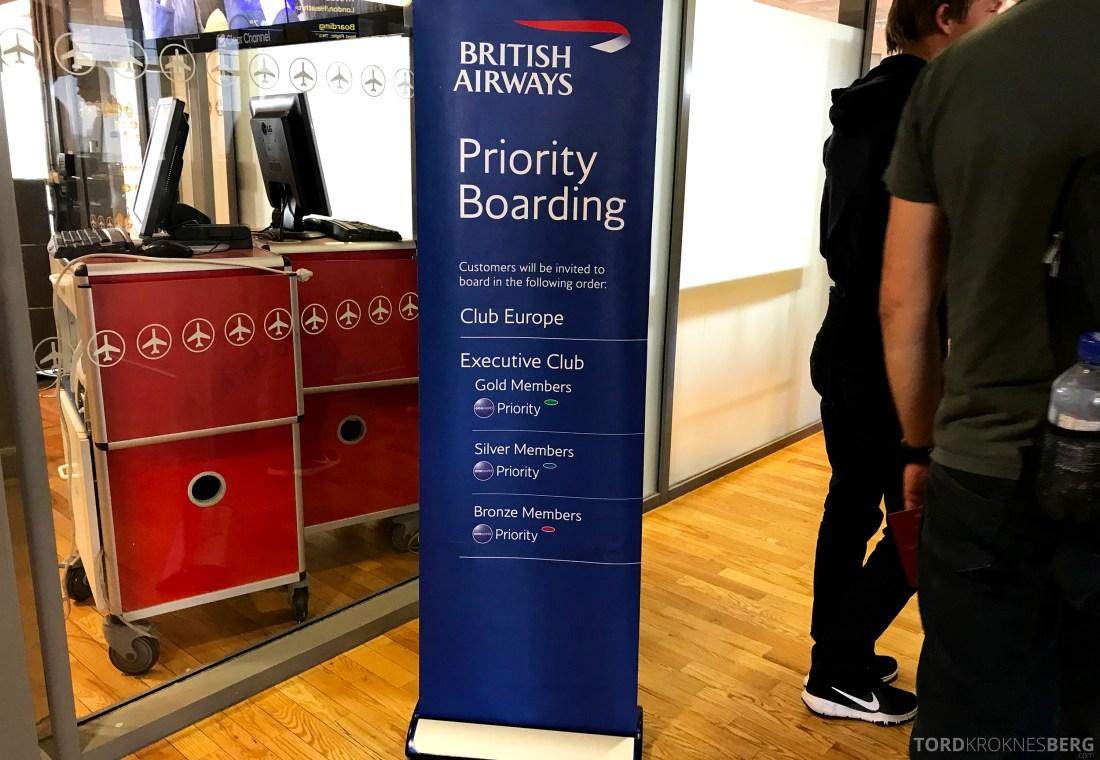 British Airways Business Class Oslo London boarding