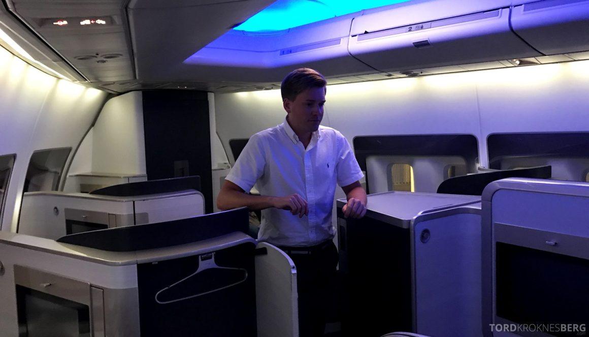 British Airways First Class Miami London Tord Kroknes Berg kabin