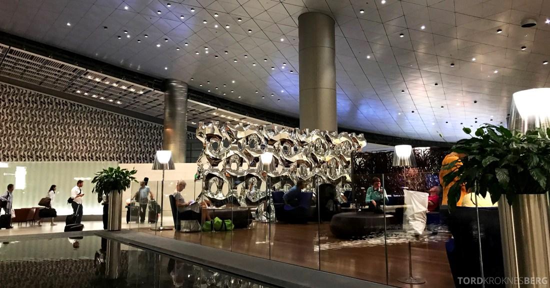 Qatar Airways Al Mourjan Business Class Lounge Doha interiør