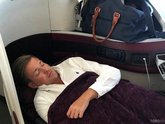 Qatar Airways Business Class Oslo Doha seng Tord Kroknes Berg