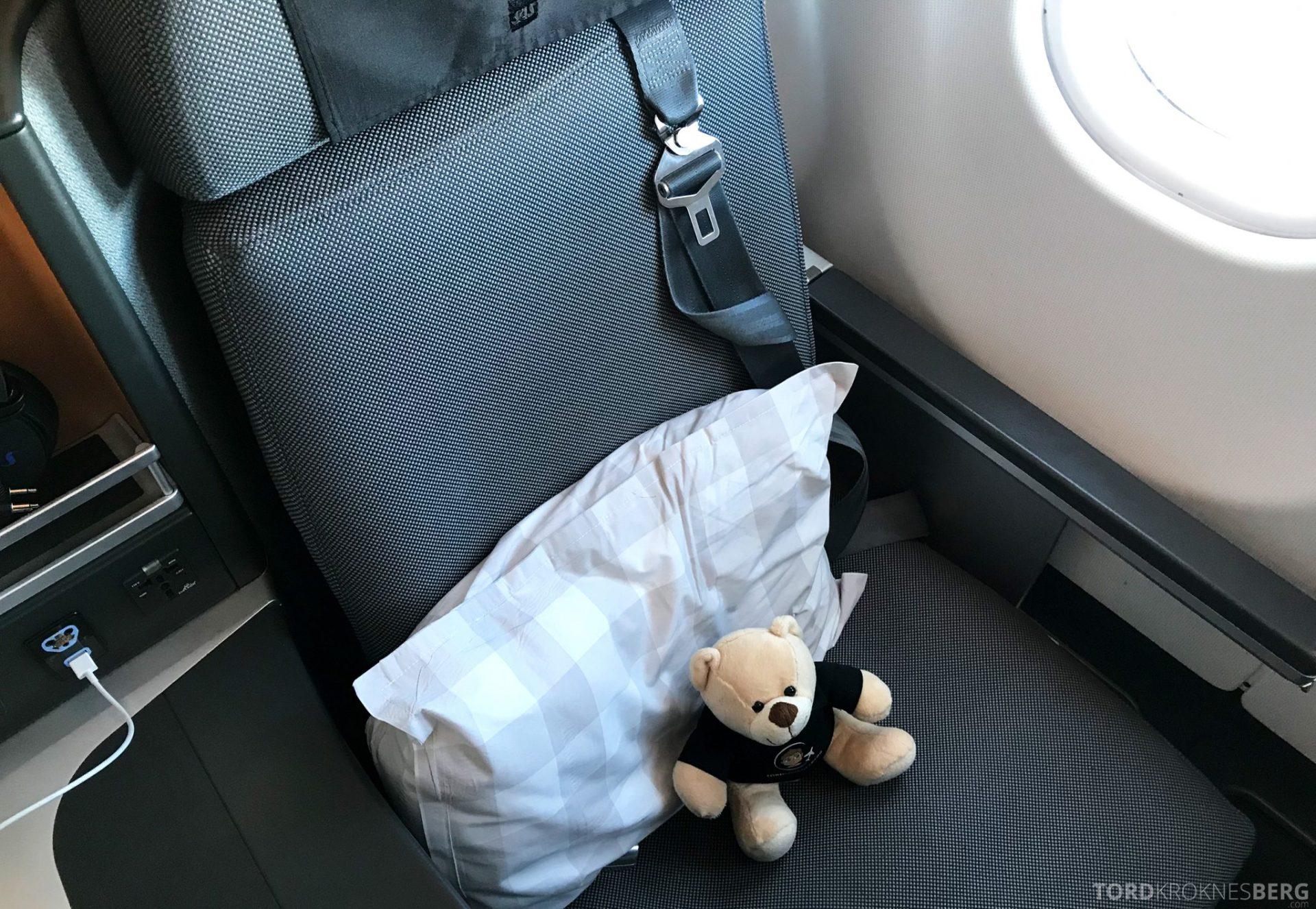 SAS Business Class Oslo Hong Kong reisefølget sete
