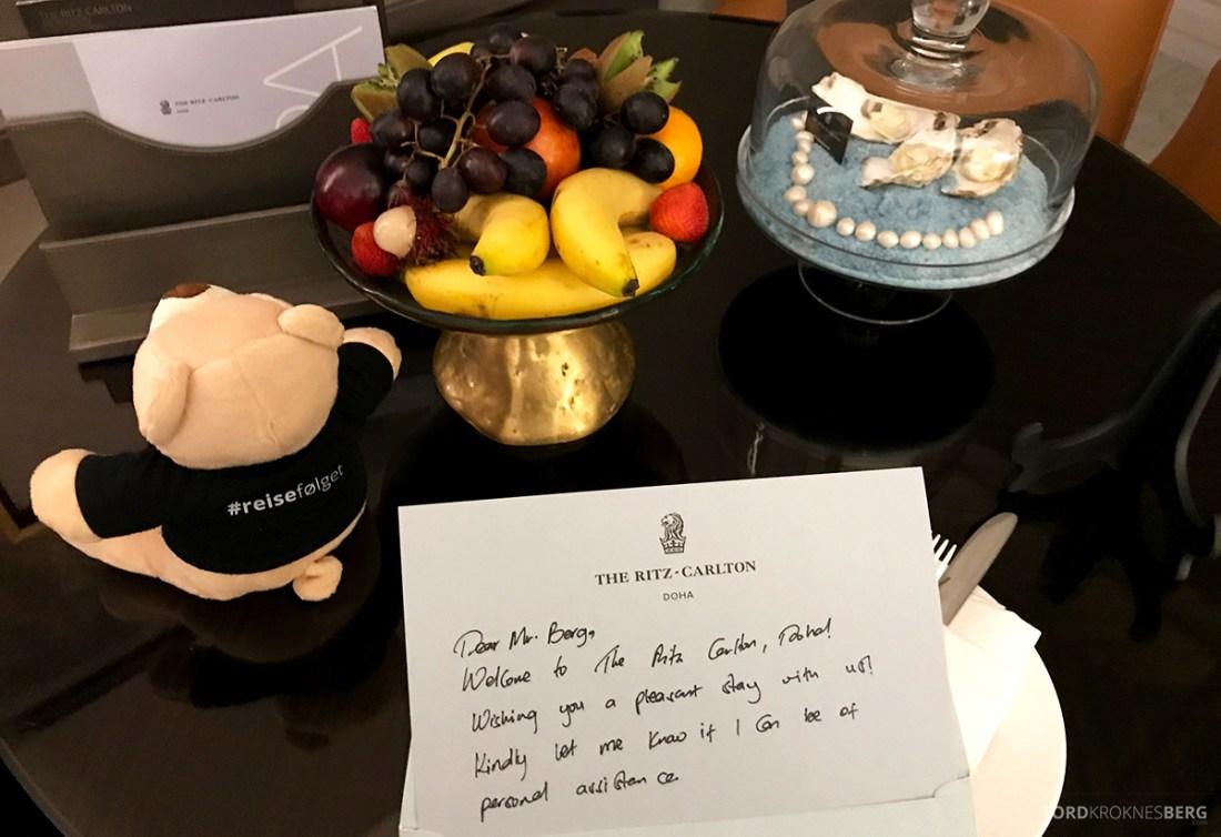 Ritz-Carlton Doha Hotel velkomstkort