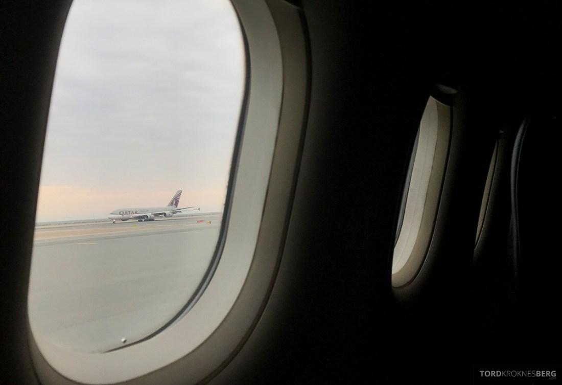 Turkish Airlines Business Class Doha Istanbul Oslo adjø