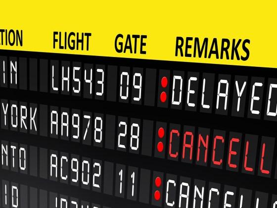 Kansellering og forsinkelse av fly