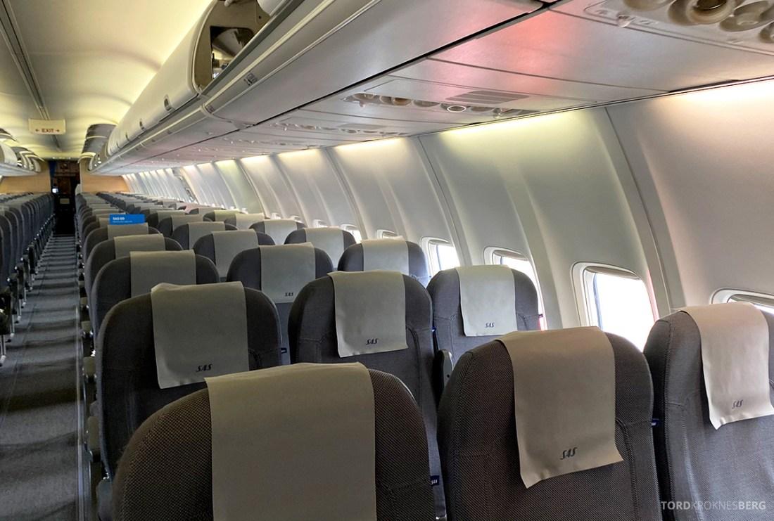 Fly Gardermoen Corona kabin SAS