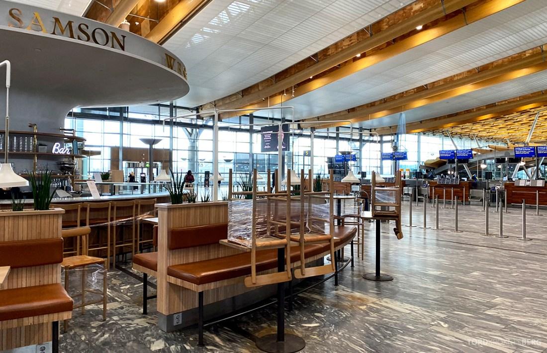 Fly Gardermoen Corona cafe stengt