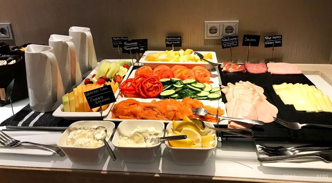 Sheraton Hotel Stockholm Club Lounge frokost pålegg