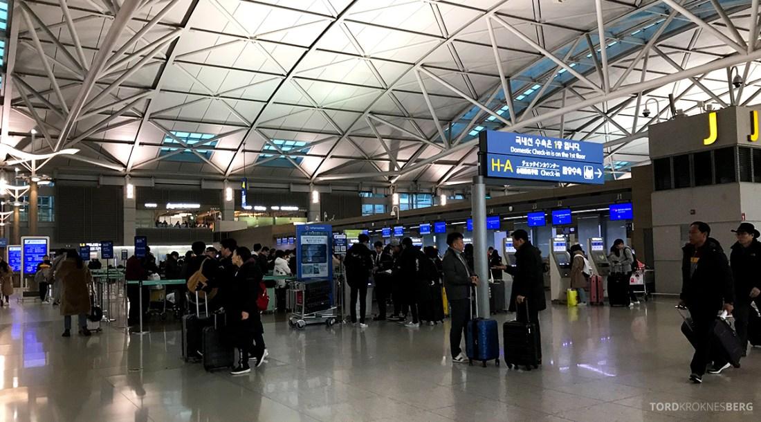 British Airways Club World Seoul London oversikt innsjekk