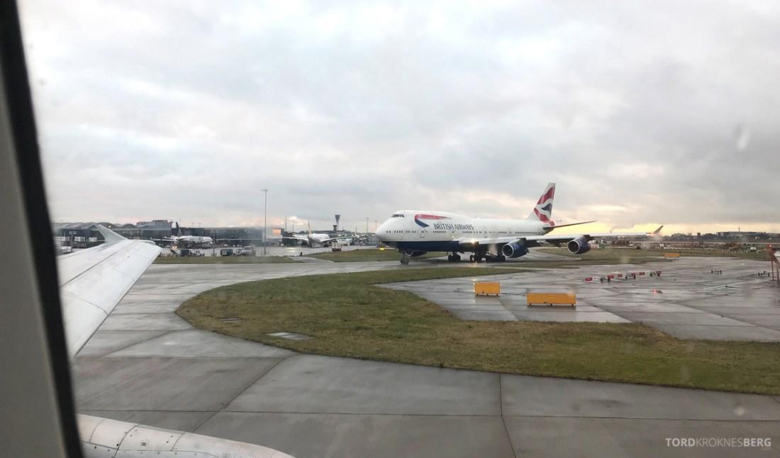 British Airways Club Europe Lisboa London Oslo 747
