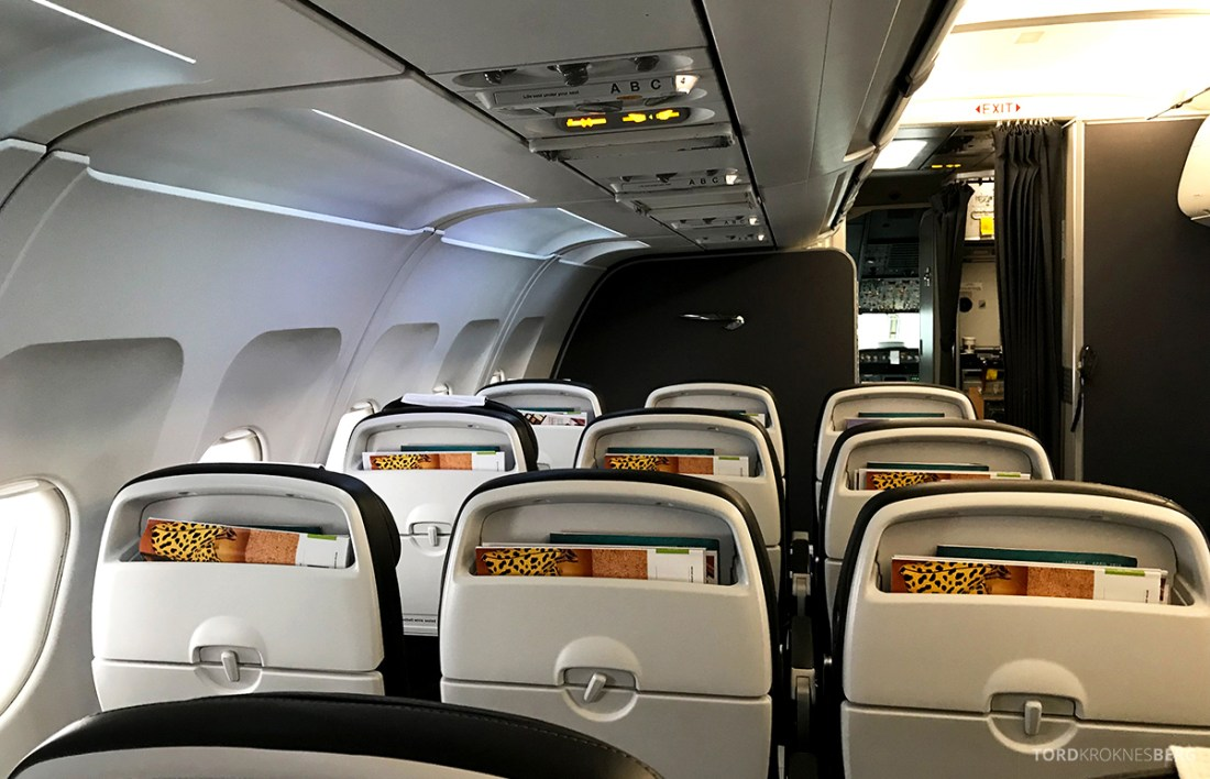 British Airways Club Europe Oslo Lisbon kabin