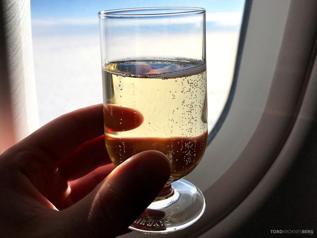 British Airways Club Europe Oslo Lisbon champagne