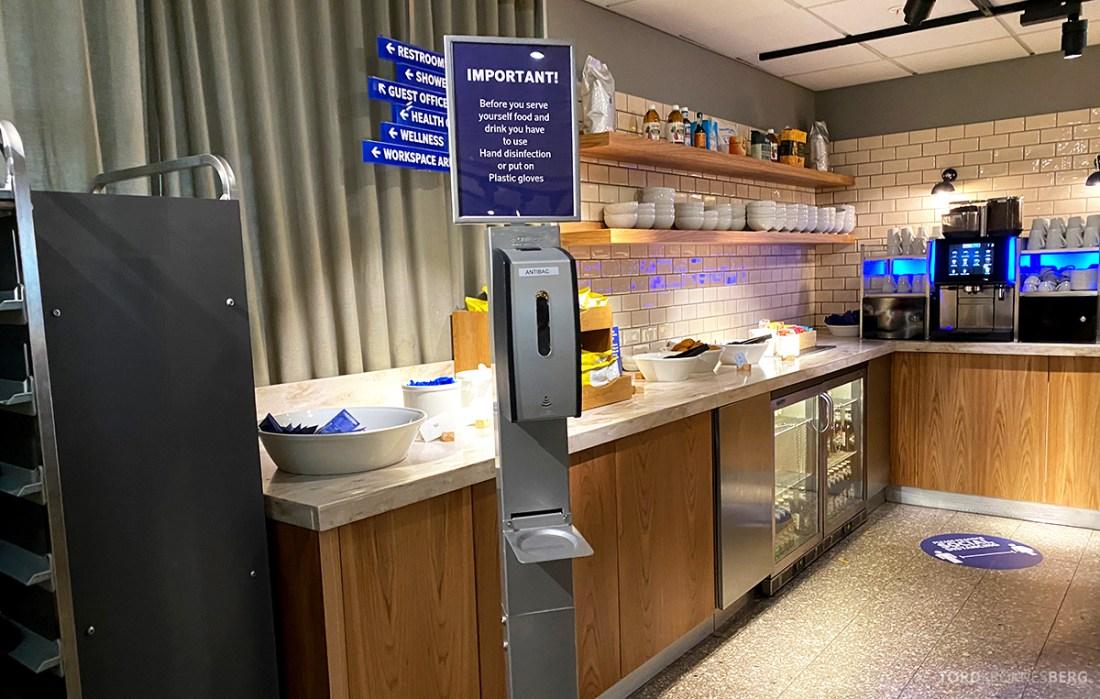 SAS Lounge Oslo Corona desinfeksjon