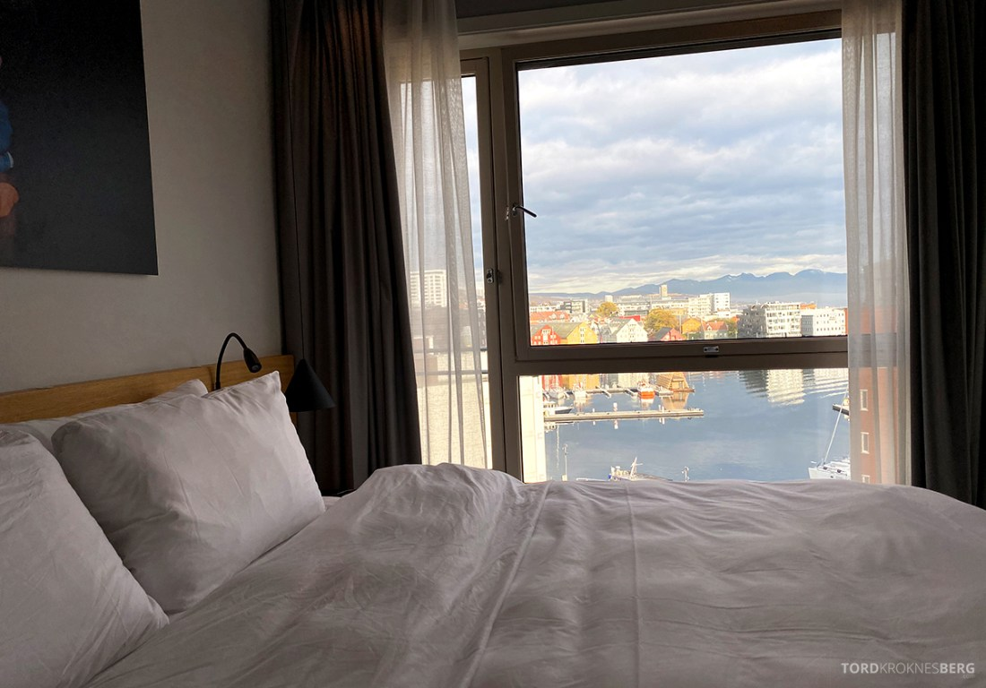 Radisson Blu Tromsø Hotel seng utsikt