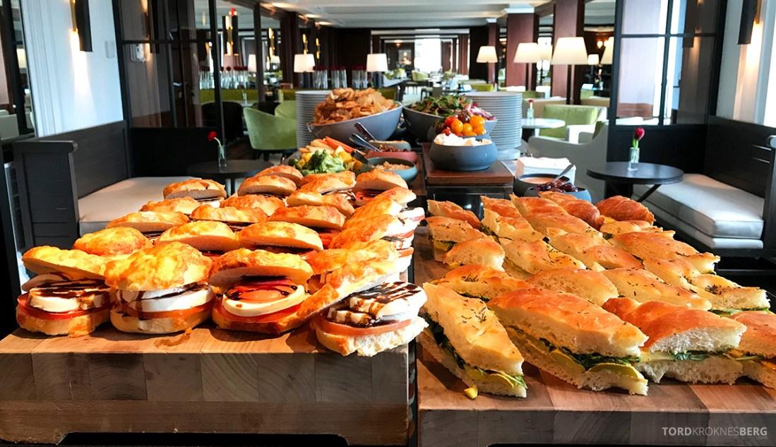 Ritz-Carlton Hotel New York Central Park Club Lounge lunch sandwich
