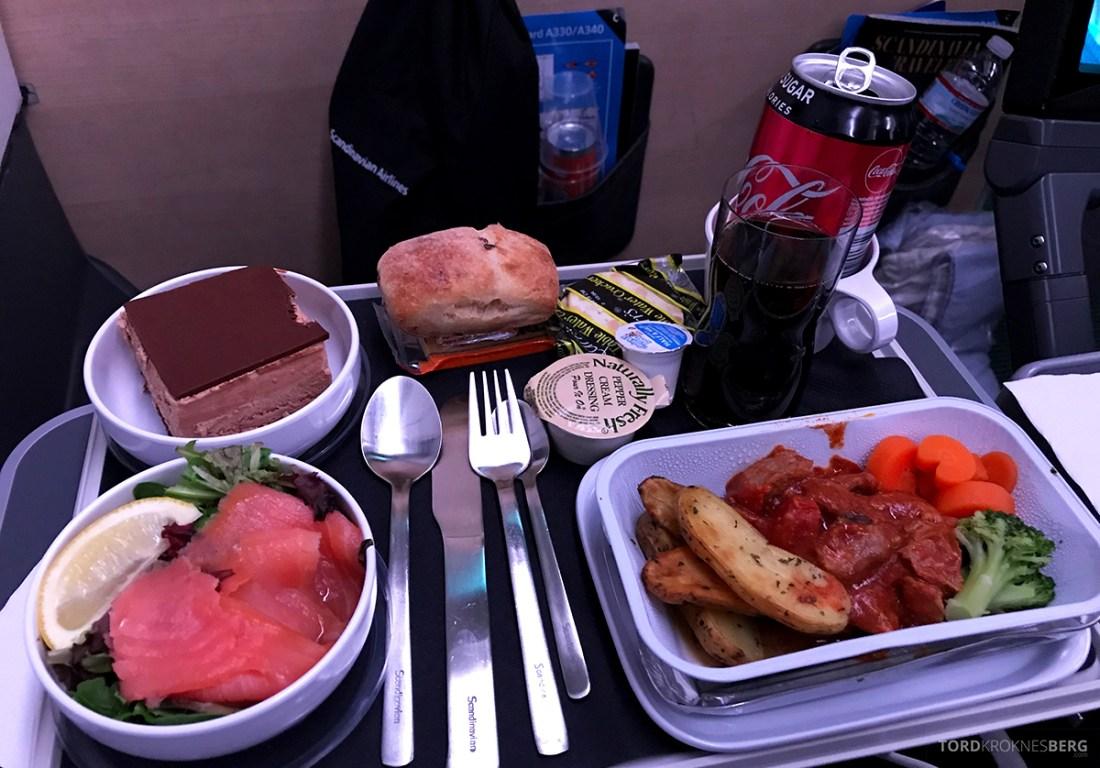 SAS Plus New York Oslo direkte mat