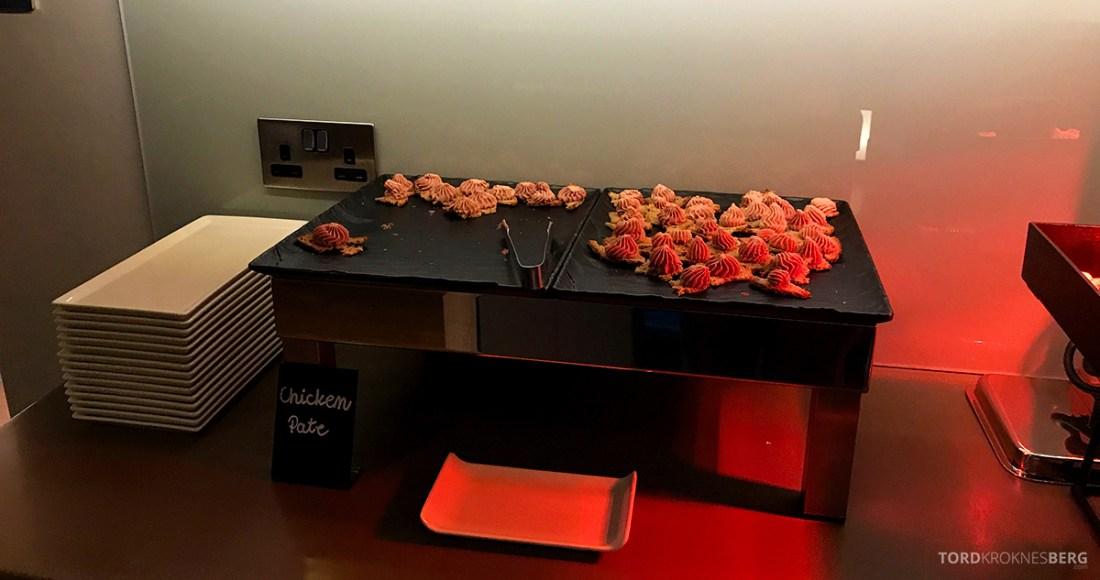 Sheraton Grand Hotel & Spa Edinburgh Club Lounge chicken pate