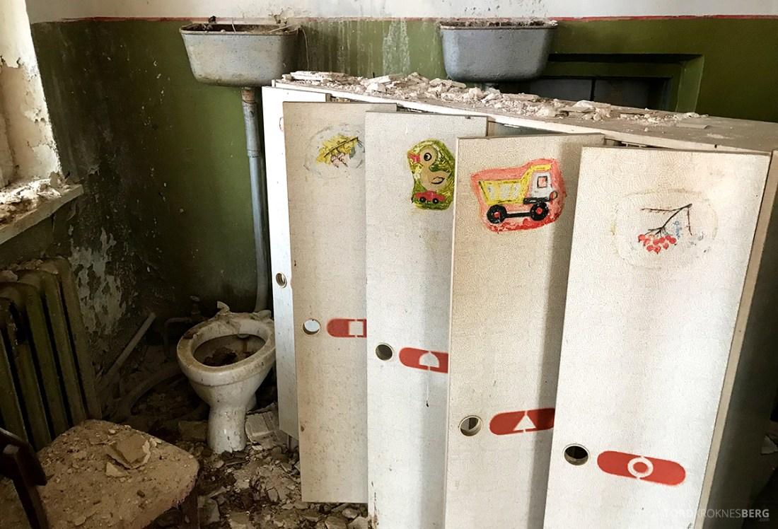 Chernobyl Pripyat Tour toalett barnehave