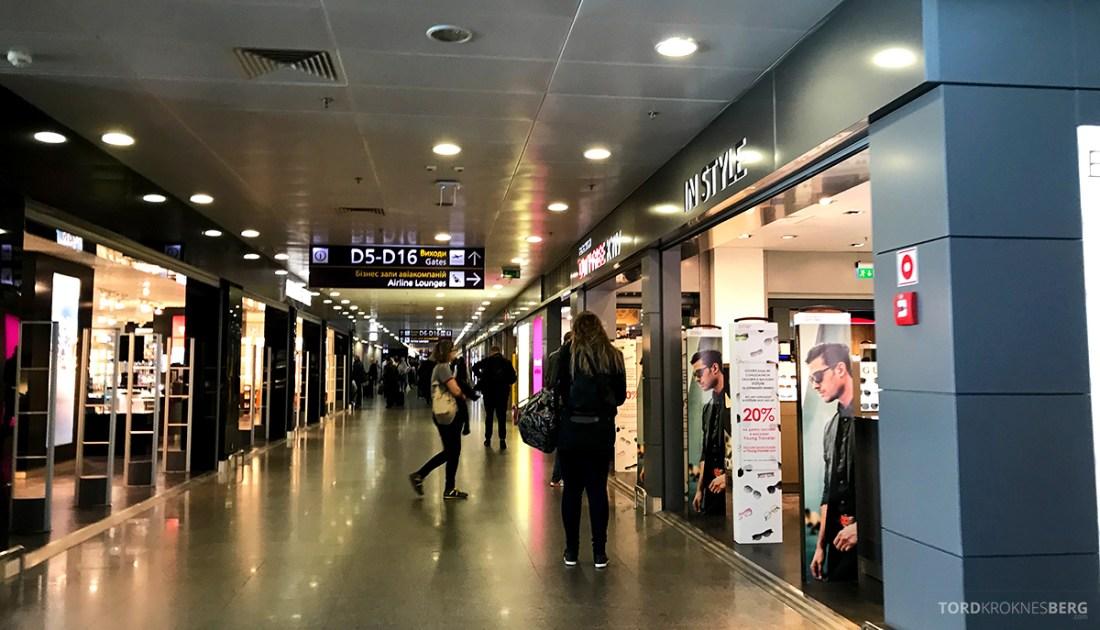 SWISS Economy Class Kiev Zürich Oslo på vei mot lounge