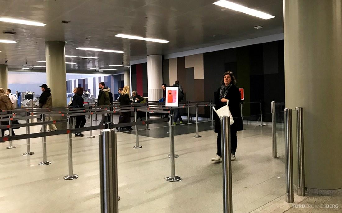 SAS Plus Reykjavik Oslo sikkerhetskontroll