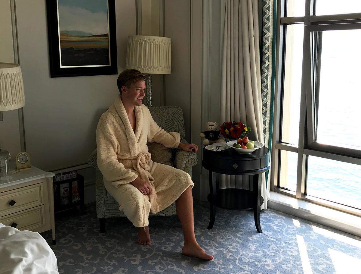 Shangri-La Bosphorus Istanbul Hotel Tord Kroknes Berg morgenkåpe