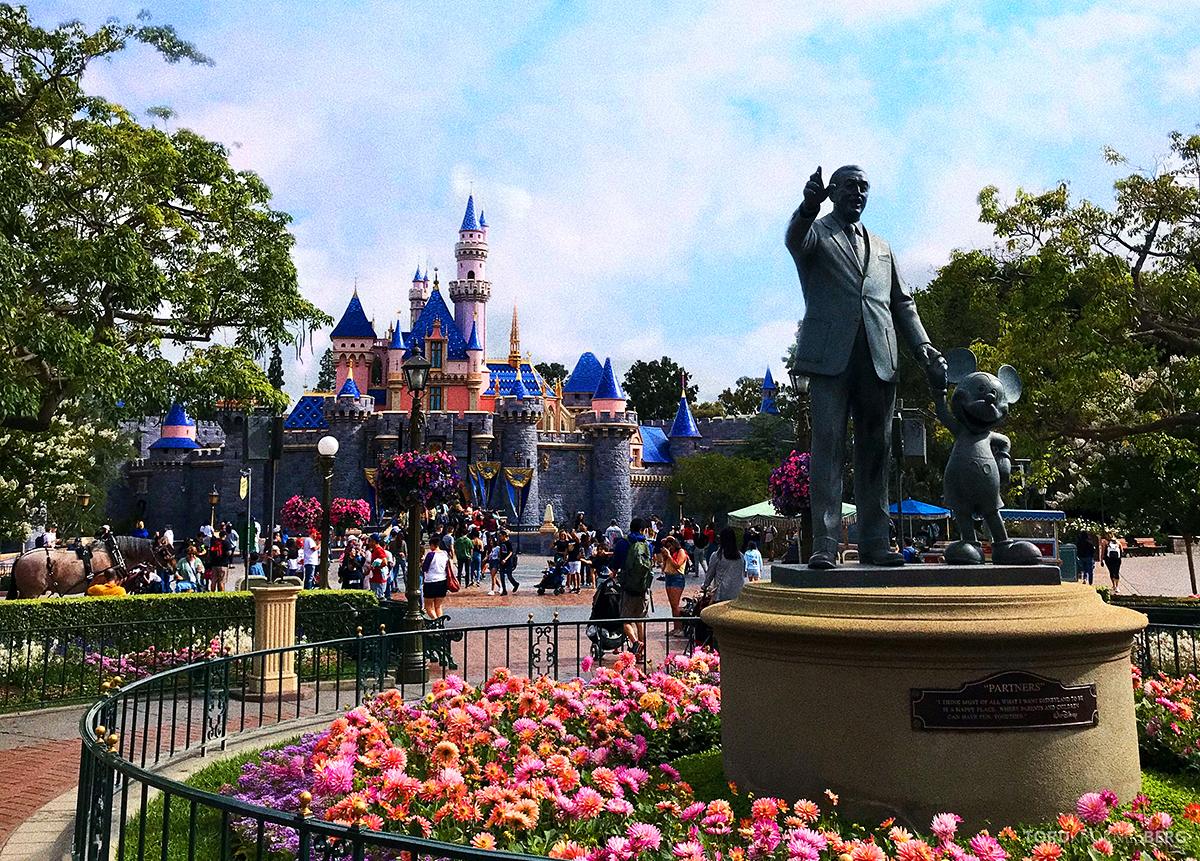 Disneyland California Walt Disney og slott
