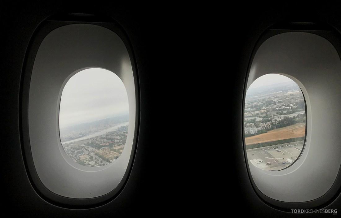 Lufthansa Premium Economy Los Angeles Oslo take-off