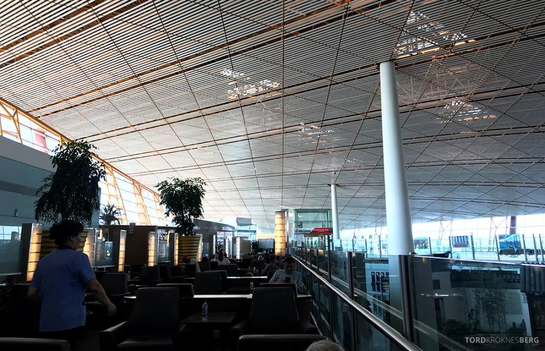 Air China Business Class Lounge Beijing oversikt sitteplasser