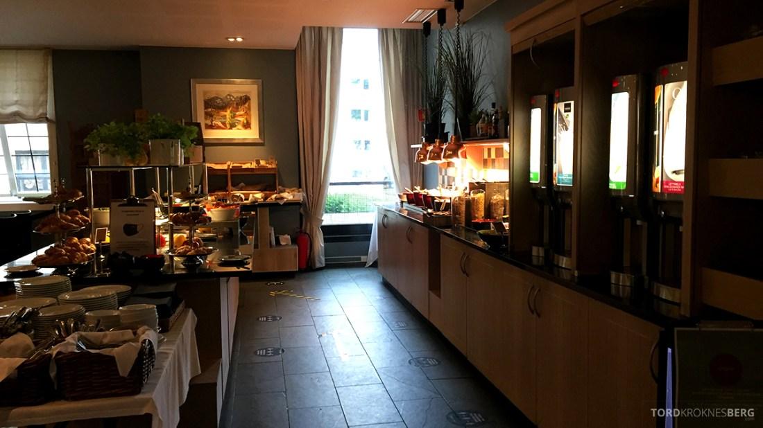 Clarion Collection Hotel Gabelshus Oslo frokostbuffet oversikt