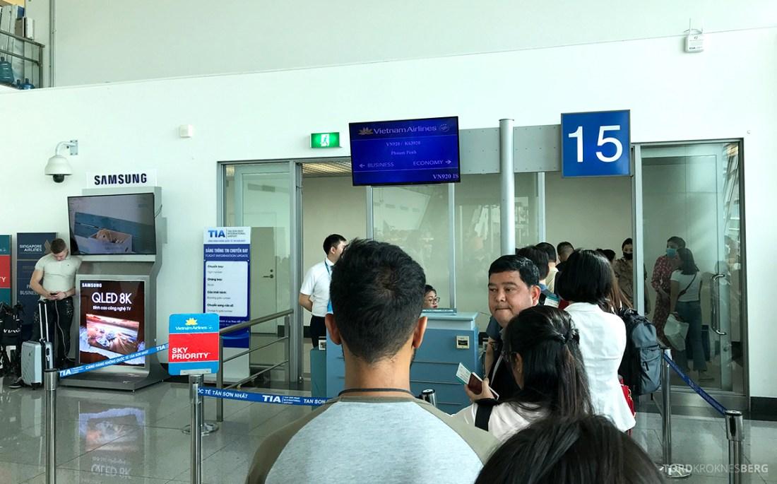 Vietnam Airlines Economy Class Ho Chi Minh City Phnom Penh boarding