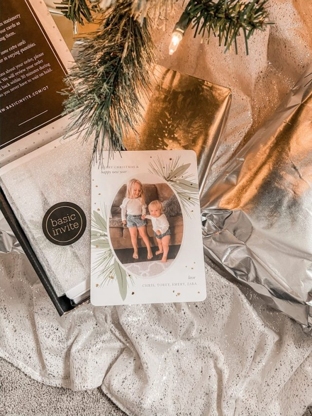 Our Holiday Cards with Basic Invite