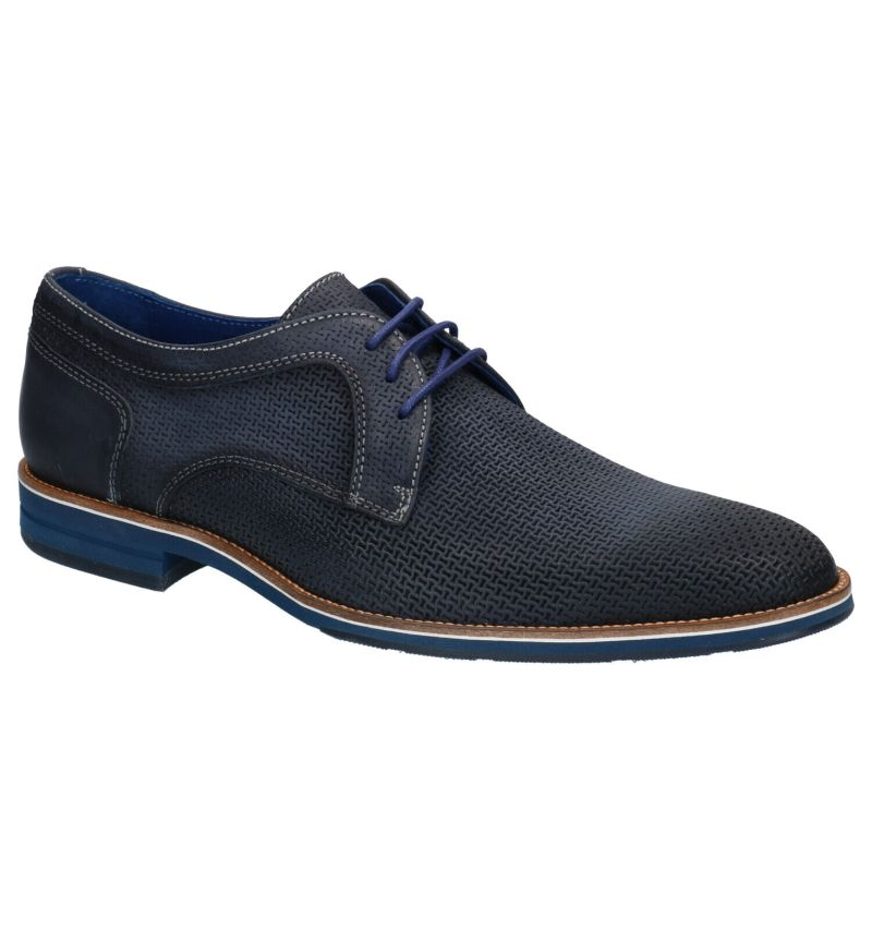 Braend Blauwe Geklede schoenen