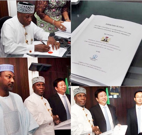 Signs MoU on $11.117bn Lagos-Calabar railway project
