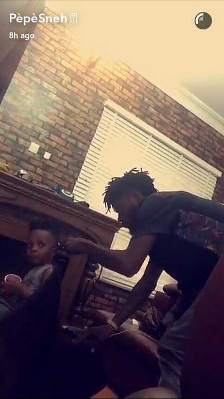 Olamide and His Son Look Hot as They Flaunt New Hairstyle (Photos