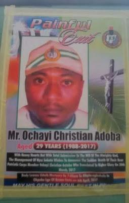 Ochai 1 - See Photos of Corps Member Who Died of Heart Failure in Sokoto State