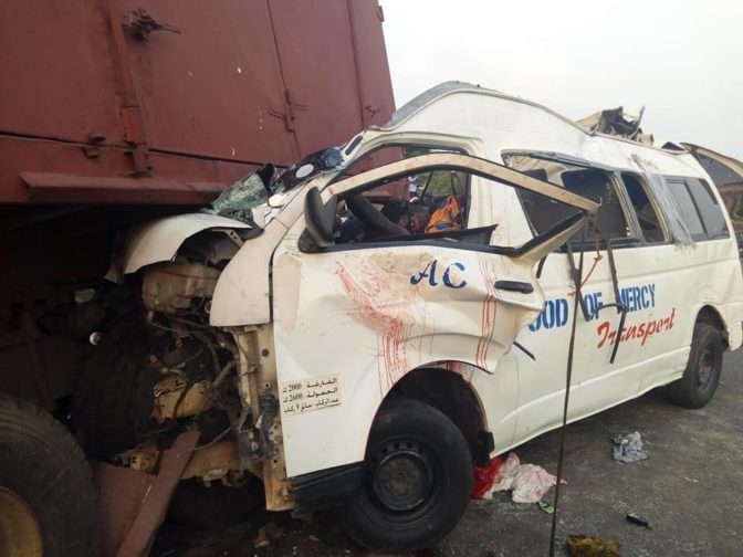 ore4 - Many Killed As Truck Crushed Commercial Bus Along Lagos-benin Highway (pics)