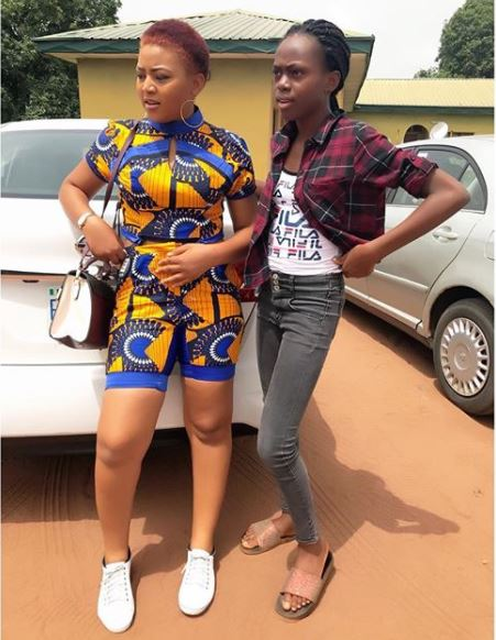 Regina Daniels Slays In Tight Short And Top At Igbinedion University (Photos)