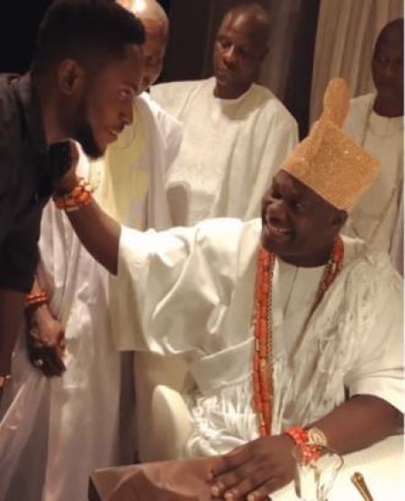 BBNaija Winner, Miracle Visits The Ooni Of Ife, Oba Adeyeye Ogunwusi (Video)