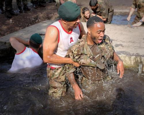This is what Happened When England Players Trained With Royal Marines In Preparation For The World Cup (Photos)
