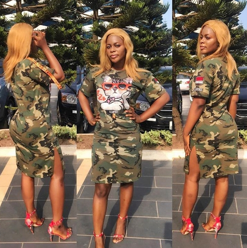 army girl birthday 2 - These Stylish Birthday Pics Of Endowed Nigerian Female Soldier Has Got Many Talking (Twerk Video